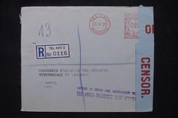 PALESTINE - Enveloppe En Recommandé De Tel Aviv Pour La France En 1939 Avec Contrôle Postal - L 102391 - Palestina