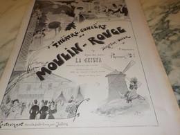 ANCIENNE PUBLICITETHEATRE CONCERT DU MOULIN ROUGE 1906 - Other