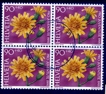 HELVETIA - SBK Nr J322 (Mi Nr 1458) - VIERERBLOCK Gest./obl. - (ref.3667) - Used Stamps