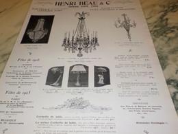ANCIENNE PUBLICITE GRAND PRIX 1900 HENRI BEAU 1906 - Other