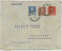 37342  - ARGENTINA  - POSTAL HISTORY  -  Stationery Cover With Added Stamps - MENDOZA To GERMANY 1924 - Postal Stationery