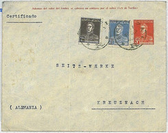 37340  - ARGENTINA  - POSTAL HISTORY  -  Stationery Cover With Added Stamps - MENDOZA To GERMANY 1924 - Postal Stationery