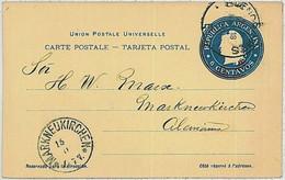 37353  - ARGENTINA  - POSTAL HISTORY  -  Stationery Card From BA  To GERMANY 1901 - Postal Stationery