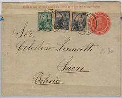 39449  - ARGENTINA  - POSTAL HISTORY  -  STATIONERY COVER To BOLIVIA 1906 - Postal Stationery