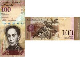 VENEZUELA 100 BOLIVARES 2012 P 93f - XF - Venezuela
