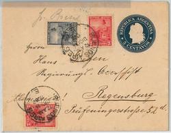 40405 - ARGENTINA  - POSTAL HISTORY  -  Stationery COVER To GERMANY Via PAQUEBOT: S.S. Bresil 1900 - Postal Stationery