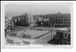 GREECE , POSTCARD OF SALONIQUE - PLACE DE LA PREFECTURE , 1952 . - Grèce