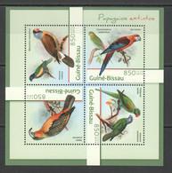 BC574 2012 GUINEA-BISSAU FAUNA EXTINCT BIRDS ON TREES PASSAROS EXTINTOS KB MNH - Parrots