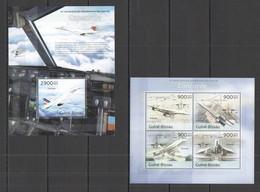 ST1276 2013 GUINE GUINEA-BISSAU TRANSPORT AVIATION ANNIVERSARY CONCORDE KB+BL MNH - Concorde