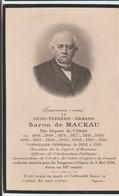 Image Post Mortem Baron Armand De Mackau Député De L'Orne (61) Conseiller Général, Ministre Mort à Vimoutiers Vimer 1918 - Santini