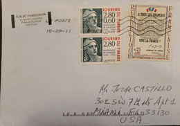 J) 1995 FRANCE, MARIANNE, MULTIPLE STAMPS, AIRMAIL, CIRCULATED COVER, FROM FRANCE TO USA - Non Classificati