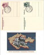 Drittes Reich , 3 Ganzsachen - Storia Postale