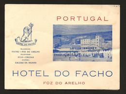 PUBLICIDADE: Folheto Turistico HOTEL Do FACHO / FOZ ARELHO + HOTEL URGEIRIÇA / CANAS De SENHORIM, C/ 2 Mapas PORTUGAL - Folletos Turísticos