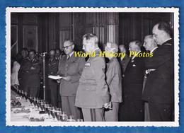Photo Ancienne - BORDEAUX - Cérémonie Militaire - Discours D'un Officier à Identifier - Voir Uniforme & Notable - Guerre, Militaire