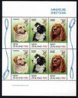 1982  New Zealand Health Semi-Stamps S/s - Dog Pet - Unused Stamps
