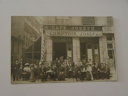 CARTE PHOTO CAFE JOSEPH COMPTOIR JOSEPH ANIMEE A LOCALISER - A Identificar