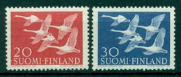 FINLAND 1956 Mi 465-66** Norden Day - Birds [L3215] - Swans