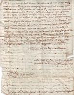 Lettre De Deux Pages Datee De ST JUSTIN Landes , 30 Juillet 1760 , Marque Postale Rouge MONT DE MARSAN , AB Mais RARE - 1701-1800: Precursors XVIII