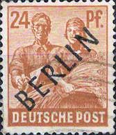 3125 Mi.Nr. 9 Deutschland Berlin (1948) 2. Kontrollratsausgabe Mit Schwarzem Aufdruck Gestempelt - Oblitérés