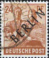 3127 Mi.Nr. 9 Deutschland Berlin (1948) 2. Kontrollratsausgabe Mit Schwarzem Aufdruck Gestempelt - Oblitérés
