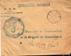 Lettre, Gendarmerie Nationale, Corse, Brigade De Campile, 1937 (bon Etat) - 1921-1960: Periodo Moderno