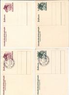 Drittes Reich , 4 Ganzsachen - Storia Postale