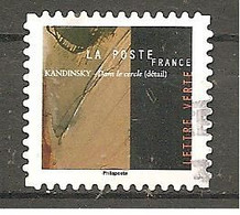 FRANCE 2021 Y T N ° 1??? Oblitéré CACHET ROND KANDINSKY - Adhésifs (autocollants)