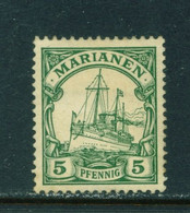 MARIANA ISLANDS  - 1901 Yacht Definitive 5pf Hinged Mint - Kolonie: Marianen