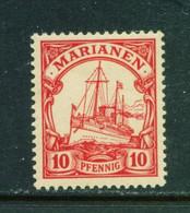 MARIANA ISLANDS  - 1901 Yacht Definitive 10pf Hinged Mint - Kolonie: Marianen