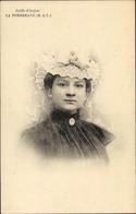 CPA La Pommeraye Maine Et Loire, Coiffe D'Anjou, Frau In Tracht, Portrait - Other Municipalities