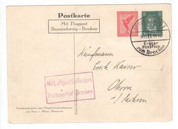 Deutsches Reich 1927 , Erster Postflug Zum Brocken , Privatganzsache - Storia Postale