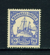 MARSHALL ISLANDS  - 1901 Yacht Definitive 20pf Hinged Mint - Kolonie: Marshall-Inseln