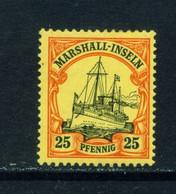 MARSHALL ISLANDS  - 1901 Yacht Definitive 25pf Hinged Mint - Kolonie: Marshall-Inseln