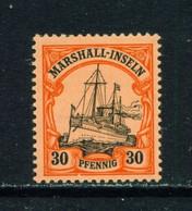 MARSHALL ISLANDS  - 1901 Yacht Definitive 30pf Hinged Mint - Kolonie: Marshall-Inseln