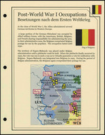 Illustrated Album Pages Deutsches Reich - Post-War Occupations After WW1 (Eupen & Malmedy) - Pre-printed Pages