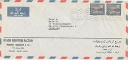 Saudi Arabia Air Mail Cover Sent To Denmark 29-3-1975 Topic Stamps - Arabie Saoudite