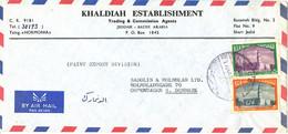 Saudi Arabia Air Mail Cover Sent To Denmark Topic Stamps - Arabie Saoudite