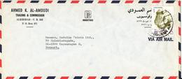Saudi Arabia Air Mail Cover Sent To Denmark Single Franked - Arabie Saoudite