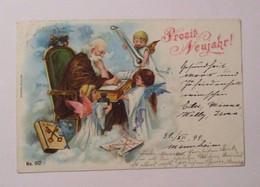 Neujahr, Engel, St, Peter, Buch,  1899 ♥ (40336)   - Neujahr