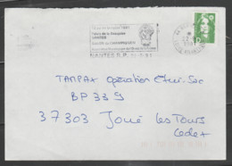 Flamme Dpt 44 : NANTES RP (SCOTEM  N° 11866 Du 15/07 => 12/10/1991) : Salon Du Champignon - Beaujoire - Oct 1991 - Mechanical Postmarks (Advertisement)