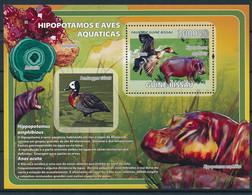 NB - [401172]TB//**/Mnh-Guiné-Bissau 2008 - Hippopotame Et Oiseau Aquatique, Minerai - Otros