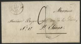 """LOIRE Boîte Rurale """"E : Andrézieux""""+ Cachet à Date (Type 15) """"SURY-COMTAL 16/5/1848"""" - 1801-1848: Voorlopers XIX"""