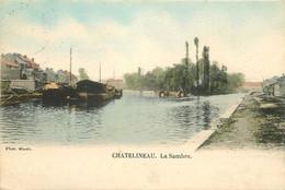 Belgique CHATELINEAU. 1903 Péniches Sur La Sambre - Châtelet