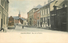Belgique CHATELINEAU. Café Coiffeur Et Brasserie Rue De La Vallée 1903 - Châtelet