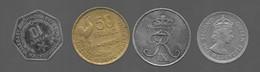 Lot De 4 Monnaies :  Madagascar / France / Danemark / British Caribbean Territories (1042) - Lots & Kiloware - Coins