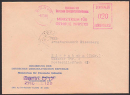BERLIN O17 ZKD-AFS 8.11.57 =020= Regierung Der DDR Ministerium Chemische Industrie, ZKD-Nr. 122 - Service
