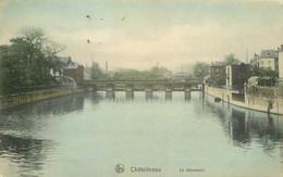 Belgique CHATELINEAU. Le Déversoir Sur La Sambre 1903 - Châtelet