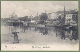 CPA  - MORBIHAN - LORIENT - LES QUAIS - Voiliers Et Bateaux De Pêche -  édition KD / 36 - Lorient