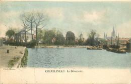 Belgique CHATELINEAU. Le Déversoir Sur La Sambre Avec Péniches 1903 - Châtelet