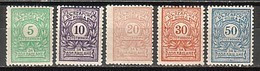 BULGARIA / BULGARIE - 1919 - Timbres-taxe - (postage Due) - Deuxième édition- 5v** - Strafport